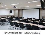 empty classroom preparing for... | Shutterstock . vector #650096617