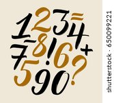 vector set of calligraphic... | Shutterstock .eps vector #650099221