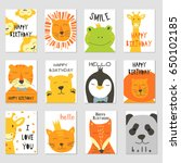 Vector Cards With Cute...