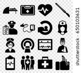 patient icons set. set of 16... | Shutterstock .eps vector #650103631