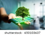 view of a green tree going out... | Shutterstock . vector #650103637