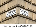 street sign in stockholm  sweden | Shutterstock . vector #650108191