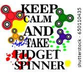 hand spinner flat vector... | Shutterstock .eps vector #650110435
