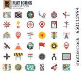 simple set of navigation flat... | Shutterstock .eps vector #650112994