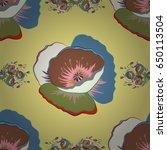 vintage seamless pattern in... | Shutterstock .eps vector #650113504