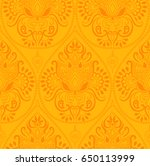 seamless indian floral paisley... | Shutterstock .eps vector #650113999