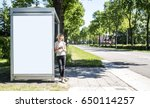 bus stop abri or billboard... | Shutterstock . vector #650114257