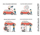 car service set. | Shutterstock . vector #650114659