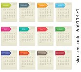 calender for 2011 in square... | Shutterstock .eps vector #65011474