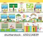 kindergarten interior set. | Shutterstock . vector #650114839