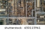 top view oil refinery plant ... | Shutterstock . vector #650115961