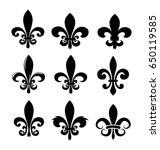fleur de lise vector set | Shutterstock .eps vector #650119585
