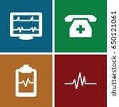 cardiogram icons set. set of 4... | Shutterstock .eps vector #650121061