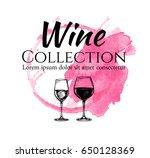 wine collection. design... | Shutterstock .eps vector #650128369