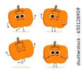 Pumpkin. Cute Vegetable Vector...