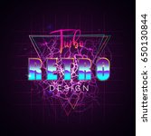 80s retro sci fi background | Shutterstock .eps vector #650130844