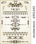 lots of design floral vector...   Shutterstock .eps vector #6501343