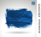 blue brush stroke and texture.... | Shutterstock .eps vector #650135455