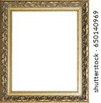 vintage gold photo frame | Shutterstock . vector #650140969