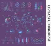 social media colorful... | Shutterstock .eps vector #650141455