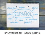 concept of learning spanish ... | Shutterstock . vector #650142841