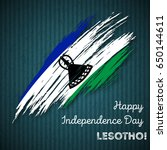 lesotho independence day... | Shutterstock .eps vector #650144611