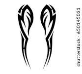 tattoo tribal vector design....   Shutterstock .eps vector #650145031