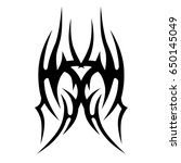tribal tattoo art designs.... | Shutterstock .eps vector #650145049