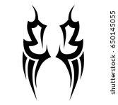tattoo tribal vector designs.... | Shutterstock .eps vector #650145055