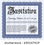 blue retro vintage invitation....