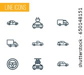 auto outline icons set.... | Shutterstock .eps vector #650148151