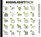travel icons set. collection of ... | Shutterstock .eps vector #650150305