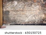 simple urban wall with a... | Shutterstock . vector #650150725