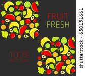 background with fresh  organic... | Shutterstock .eps vector #650151661