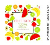 background with fresh  organic... | Shutterstock .eps vector #650151784