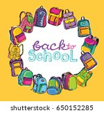 back to school. hand drawn... | Shutterstock .eps vector #650152285