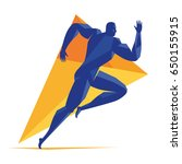 vector logo runner line athlete ... | Shutterstock .eps vector #650155915