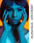 portrait of attractive african... | Shutterstock . vector #650158387