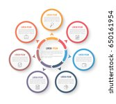 circle infographic template... | Shutterstock .eps vector #650161954