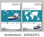 sea shipping banner template... | Shutterstock .eps vector #650162371