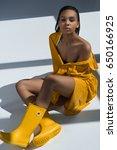 attractive sensual african...   Shutterstock . vector #650166925
