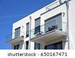 balcony rail of high grade... | Shutterstock . vector #650167471