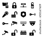 private icons set. set of 16... | Shutterstock .eps vector #650167609