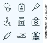 drug outline icons set.... | Shutterstock .eps vector #650168089
