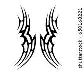 tattoo tribal vector design.... | Shutterstock .eps vector #650168221
