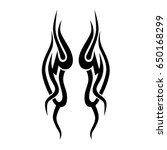 tribal tattoo art designs.... | Shutterstock .eps vector #650168299