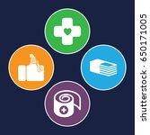 bandage icons set. set of 4... | Shutterstock .eps vector #650171005