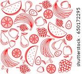 abstract fruit card  organic... | Shutterstock .eps vector #650172295
