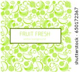 abstract fruit card  organic... | Shutterstock .eps vector #650172367