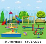 kids playground cartoon concept ... | Shutterstock .eps vector #650172391